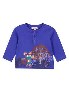 Irisblaue Jersey-Tunika für Babys Jungen GUVIOTEE2 / 19WG10R2TML706