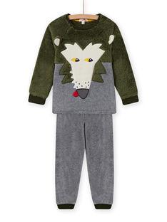 Kind Junge Wolf Schlafanzug Set in soft boa MEGOPYJBOA / 21WH1294PYJ628