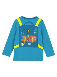 T-Shirt Türkis Langarm GOTUTEE2 / 19W902Q3TMLC217