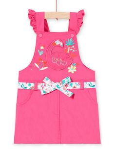 Mädchen rosa Latzhose Kleid LIBONROB1 / 21SG09W2ROB302