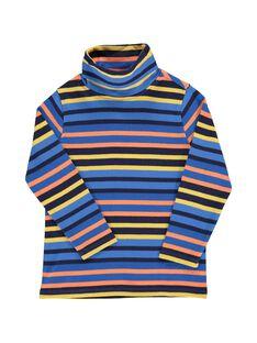 Boys' striped polo neck DOBLESOUP / 18W90291SPL099