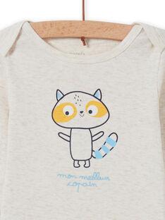 Waschbär-Body für Baby-Jungen MEGABODCOP / 21WH14C6BDL006