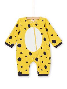 Fleece-Fleece-Überpyjama für Mädchen mit Leopardenmuster LEFUCOMLEO / 21SH1411SPY106