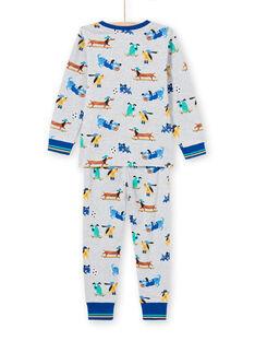 Grauer Pyjama für Jungen mit Hundedruck MEGOPYJDOG / 21WH1235PYJJ922