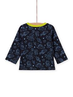 Wende-T-Shirt für Jungen mit schwarzem Space-Print MUPLATEE2 / 21WG10O1TMLC243