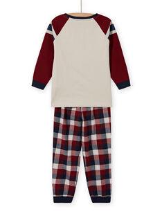 Jungen-Pyjama-Set mit Wendepailletten-Auto-Motiv MEGOPYJSPOR / 21WH1232PYJ080