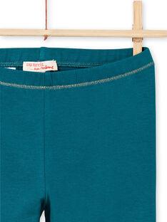 Türkisfarbene Leggings für Baby-Mädchen mit goldenen Details MYAJOLEG4 / 21WI0114CAL714