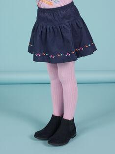 Baby-Mädchen-Wenderock in nachtblau mit Blumendruck MAPLAJUP1 / 21W901O1JUPC202