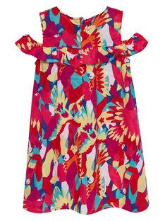 Ärmelloses Kleid mit Papagei-Print JAMAROB1 / 20S901P2ROB000