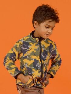 Wendbare Fleeceweste mit Reißverschluss für Kinder Jungen MOSAUGIL / 21W902P1GILJ922