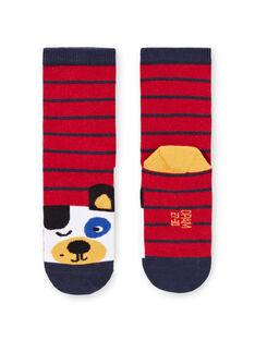 Gestreifte Socken für Baby-Jungen mit Hundedruck MYOMIXCHO / 21WI02J1SOQ505