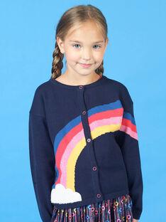 Marineblaue und rote Weste für Mädchen LAHACAR / 21S901X1CAR070