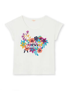 Kurzarm-T-Shirt mit Blumendruck LAMUMTI2 / 21S901Z1TMC001