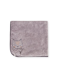 Gemischte Geburt graue Decke mit Fuchs Muster MOU1COUV / 21WF4241D4PJ922
