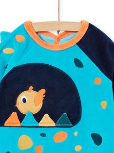 Baby Schlafanzug aus Samt mit Dinosaurier-Muster LEFUGREDIN / 21SH1413GREC230