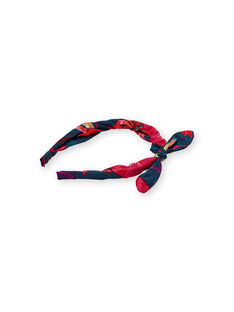 Stirnband navy blau Kind Mädchen LYABONSERRE / 21SI01E4TET716
