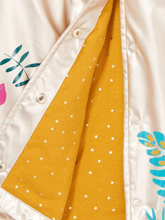 Goldener Regenmantel mit Blumendruck LANAUIMPER / 21S901R2IMPK008