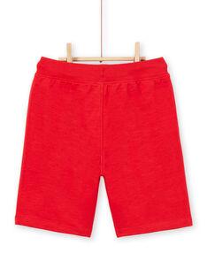 Rote Bermudashorts Kind Junge LOJOBER2 / 21S902F1BER050