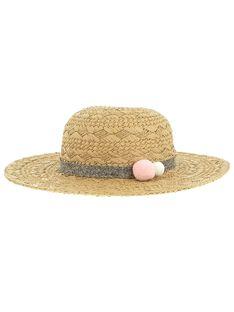 Girls' straw hat CYACEHAT1 / 18SI01M1CHA007