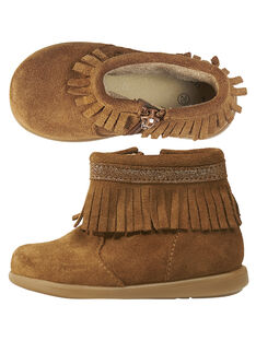 Camel Boots aus Lackleder mit Fransen für Babys Mädchen GBFBOOTINDC / 19WK37X2D0D804