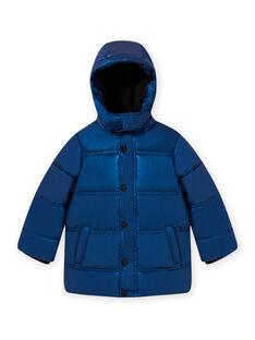 Blaue Metallic-Jacke für Kind Junge MOGRODOU3 / 21W90262D3E717