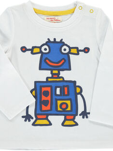 Baby boys' long-sleeved T-shirt DUBLETEE4 / 18WG1094TMLA001