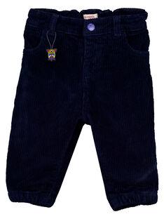 Nachtblaue Samthose Baby Junge GUVIOPAN1 / 19WG10R2PAN713