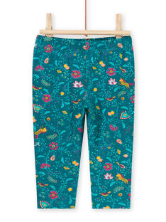 Baby Mädchen Ente Blau Floral Legging MYITULEG / 21WI09K1CAL714