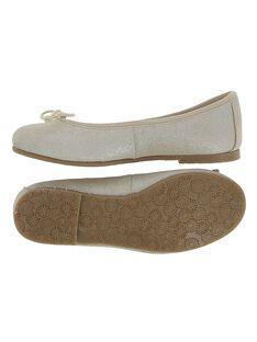 Girls' leather ballet pumps CFBALBO1 / 18SK35W6D41954