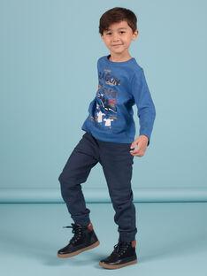 Mitternachtsblaue Jogginghose mit Sternendruck für Baby-Jungen MOPLAPAN2 / 21W902O2PAN705