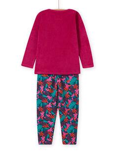 Set aus T-Shirt und Hose aus tropischem Samt für Mädchen MEFAPYJMON / 21WH1183PYJD312
