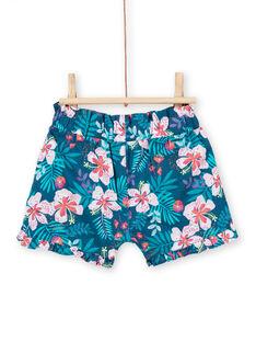 Blau und rosa Baby Mädchen Blumendruck Shorts LIBONSHO / 21SG09W1SHO716