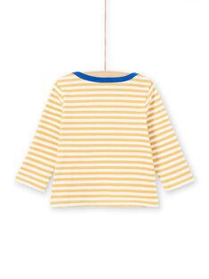 Baby Boy's Yellow and White Stripes Long Sleeve T-Shirt MUJOTEE1 / 21WG1022TML117