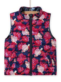 Wende-Daunenjacke für Mädchen in Marineblau und Rosa MAPADOUNEX / 21W90157D3E070