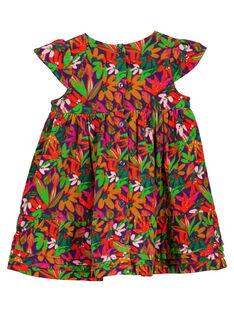 Bedrucktes Samtkleid für Babys Mädchen GIVIOROB2 / 19WG09R1ROB708
