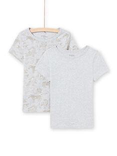 Baby Boy's Set von 2 Matching Licht grau Kurzarm-T-Shirts MEGOTELSAV / 21WH12B1HLIA010