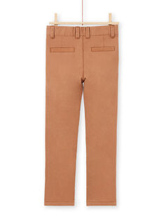 Einfarbig braune Hose für Baby-Jungen MOESPACHI2 / 21W902E1PANI810