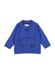 Blaue Baby-Strickweste mit Reißverschluss für Jungen FUJOGIL3 / 19SG1033GIL703