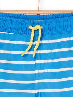 Blaue und weiße Badeshorts für Jungen LYOMERBOXEX / 21SI02DBMAIC238