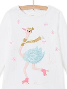 Pyjama-Set aus weißem Samt mit Schwanenmotiv für Kinder Mädchen MEFAPYJOST / 21WH1195PYJ001