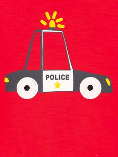 Rotes T-Shirt mit Rundhalsausschnitt und langen Ärmeln GOSANTEE4 / 19W902C2TML505