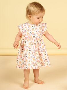 Baby Mädchen floral Kleid LIPOEROB2 / 21SG09Y3ROB001