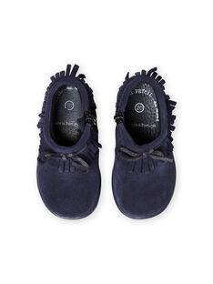 Baby Mädchen marineblaue Stiefel mit Fransen MIBOOTINDI / 21XK3771D0D070