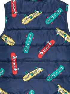 Ärmellose, mit Skateboard bedruckte Daunenjacke für Jungen JOGROIMPEX / 20S902I6BLO705