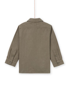 Jungen-Langarm-Shirt khaki mit Krokodil-Muster MOKASURCHEM / 21W902I1CHM628