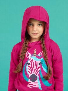 Rosa Einhorn-Kapuzenpullover für Mädchen MATUSWEA / 21W901K1SWED312