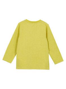 Gelbes langärmeliges T-Shirt GOTUTEE1 / 19W902Q2TMLB111