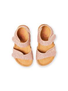Baby Mädchen Rosa Gold Sandalen LBFNUGOLD / 21KK3757D0EK009