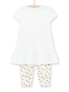 Weißer Pyjama für Mädchen LEFAPYJCOU / 21SH11C5PYJ001