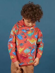 Baby Junge Orange Hoodie MOPASWE / 21W902H1SWEE415